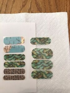 JAMBERRY Nail Wraps Map Newspaper Feather Manicure