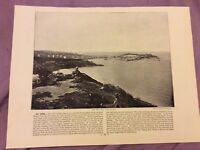 Antique Book Print - Killiney OR St Ives - UK - c. 1895