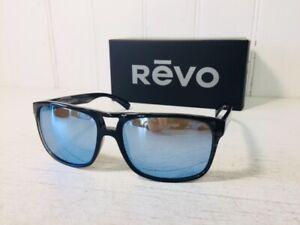 REVO RE1019 01 BL HOLSBY Black Woodgrain w/Blue Water POLARIZED Sunglasses $199