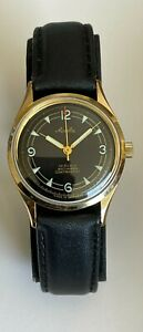 VW 100.000 KM Vintage Mauthe Watch 19 Rubis Antimagnetic Contrachoc Germany