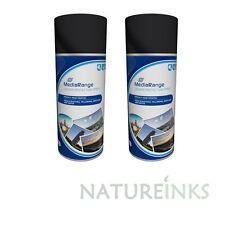 2 MediaRange Spray Can CD DVD Colour Photo Print Fixative Protection 400ml MR702