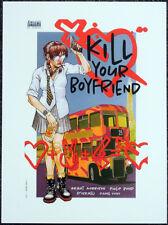 KILL YOUR BOYFRIEND POSTER PAGE . 1995 PHILIP BOND . DC COMICS G100