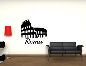 Adesivo Roma Colosseo città stickers murale decalcomania vari colori 02