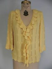 FE- ST JOHN Yellow Cardigan Sweater       size 14