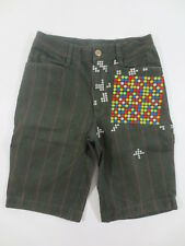 Pantalones cortos Shiroi Neko bermudas shorts ca s W 28 verde oliva caqui bordado/h63