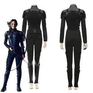 The Hunger Games Mockingjay Katniss Everdeen Cosplay Costume Halloween Outfit