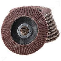 "10 x Abrasive 4 1/2"" Metal Sanding Flap Discs Angle Grinder Wheels 40 Grit"