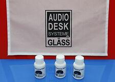 GLÄSS AUDIO DESK Vinyl Cleaner-Zubehör 3x CLEANING FLUID  Reinigungskonzentrat