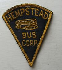 Hempstead Bus Corp Long Island New York Bus Driver Patch c 1946