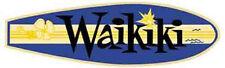 Waikiki Beach  HI   Vintage Style Travel Surfing sticker Honolulu Hawaii  Decal