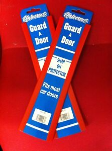 """Car Door Edge Protector 12"""" Universal Red Scratch Protection Strip Trim x 4"""