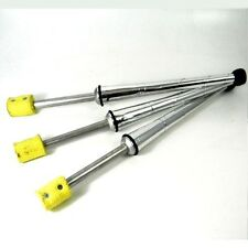 Set of 3 x Fire Juggling Clubs - Silver Juggling Fire Torches