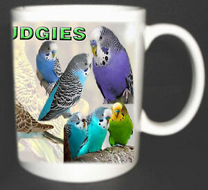 I LOVE BUDGIES COFFEE MUG LIMITED EDITION, BUDGERIGAR, CAGE BIRDS