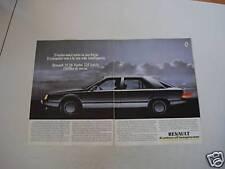 advertising Pubblicità 1986 RENAULT 25 V6 TURBO