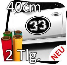 2x 40cm numéro libre au choix Numéro de départ rallye des autocollants start numéros No. 23