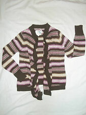 NEW JUSTICE SIZE 8 10 14 16 18 WATERFALL CARDIGAN SWEATER IN 2 COLORS BROWN&GRAY