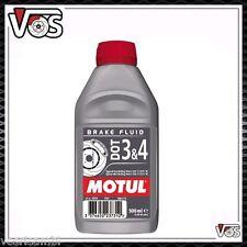 Motul DOT 3&4 Olio Liquido freni Auto moto 500ml 100% Sintetico Brake Fluid