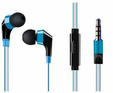 Sownd HD Stereo Earbuds 3.5 Mic Noise Isolating Reflective Cord Headphones Blue