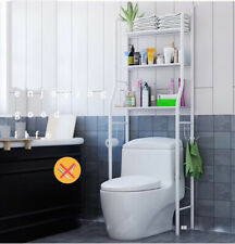 3-Shelf Over Toilet Bathroom Rack Holder for Bath Essentials, Plants, Books