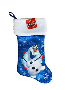 18 In Frozen Olaf Blue Christmas Stocking
