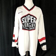 Easton Super League Gaming Jersey White Long Sleeve V Neck Size XL