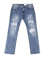 INC Mens Jeans Blue Size 36X30 Slim Fit Straight Leg Sequin Stretch $89 #211