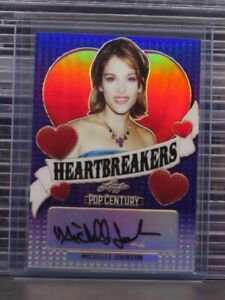2020 Leaf Pop Century Michelle Johnson Purple Heartbreakers Auto #2/20 O34