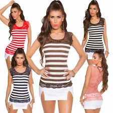 Women's Striped Hip Length Tops & Shirts