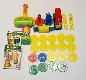 NEW CRAYOLA MODELING CLAY + PLAY-DOH 25+ TOOLS, LETTERS, NUMBERS, SESAME STREET