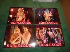 BURLESQUE  - ORIGINAL SET OF 8 LOBBY CARDS - 2010 - CHER/CHRISTINA AGUILERA