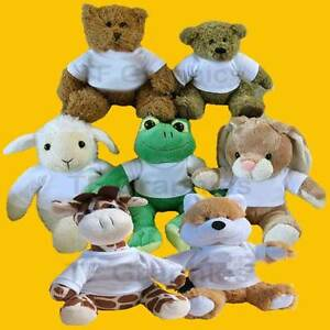Personalised Soft Cuddly Toys  - Teddy Bunny Frog Lamb Toy Soft Toy Animal Toy
