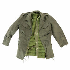 Genuine Greek Army Olive M43 Field Jacket Combat Military Lined Jacket
