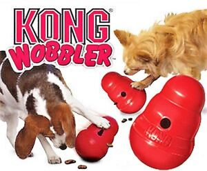 KONG Wobbler Food Dispensing Interactive Dog Toy Small Large