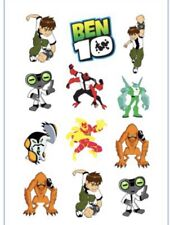 1x Ben 10 Temporary TATTOO Sheet. Party Supplies Lolly Loot BAG Cake Favors
