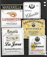 Etiquetas de Vinos Manzanilla de Sanlucar de Barrameda (ED-496)