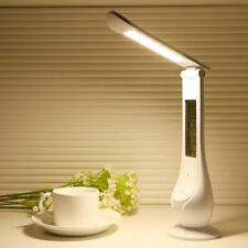 Eye Care LED Desk Lamp Touch Alarm Calendar Temperature 3Level Brightness Dimmer