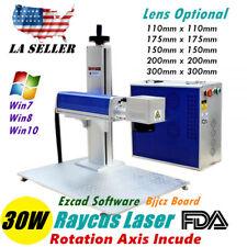 New listing 30W Split Fiber Laser Marking Engraving Engraver Machine Raycus Laser Ezcad
