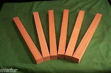 6 Pc Dry Red Oak 1x1x12 Lathe Turning Pen Blanks Carving Lumber