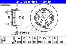 2x Bremsscheibe für Bremsanlage Hinterachse ATE 24.0109-0169.1