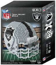 Oakland Raiders BRXLZ Team Helmet 3-D Puzzle Construction Toy New - 1392 Pieces