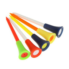 83mm Golf Tool Multicolor Plastic Golf Tees Rubber Cushion Golf Equipment 50pcs