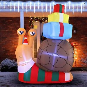 Joiedoi, 6FT Tall Holiday Snail, Inflatable Decoration