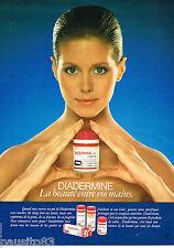 PUBLICITE ADVERTISING 055  1982  DIADERMINE  cremes soins peau