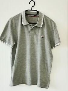 MONCLER Herren Kurzarm Pique Polo-Shirt SCOM Gr.L hellgrau  #LRS2061