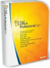Microsoft Office Professional 2007 Full Install Version w/ Product Key for 3 PCs