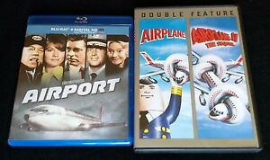 AIRPORT Blu-ray + AIRPLANE 1 & 2 DVD + FREE SHIPPING!!! #Disaster #Comedy #D2D