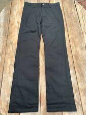 Chaps Boys Approved Schoolwear Black Pants Sz 16 Regular Flat Front