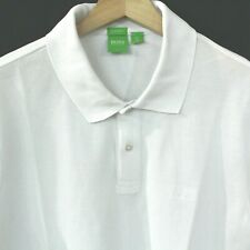 HUGO BOSS Men's Short Sleeve Polo Shirt Size XL White Green Tag