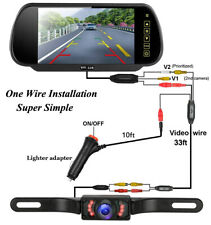 7 inch HD LCD Car Reverse Rear View Monitor +  Night Vision Parking Backup Camer