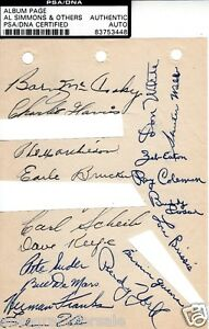 1948 Philadelphia Athletics A's team signed auto autographed album page PSA/DNA
